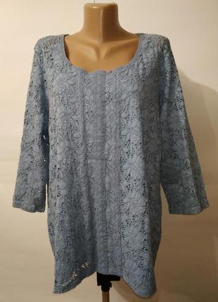 Новая блуза с красивым кружевом большой размер marks&spencer uk 22/50/xxxl
