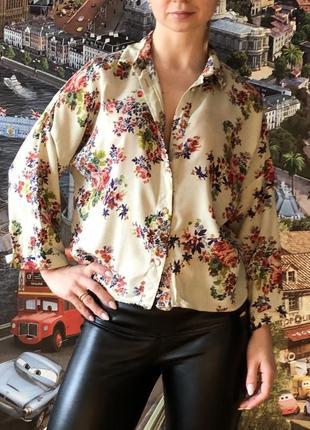 Женская цветная блуза рубашка широкая atmosphere размер s