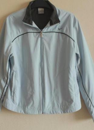 Брендовая ветровка nike оригинал голубая куртка курточка легкая