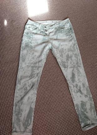 Брюки джинсы мятные please италия