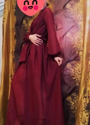 Шифоновое нарядное платье3 фото