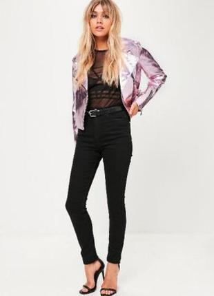 Крутая куртка металлик розовая от missguided2 фото