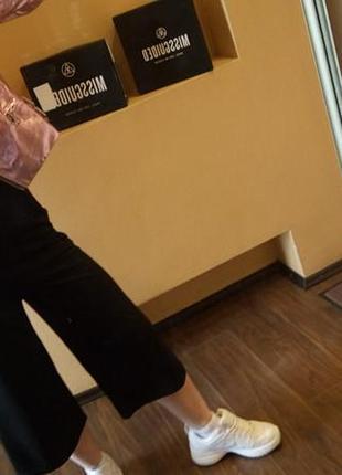Крутая куртка металлик розовая от missguided5 фото