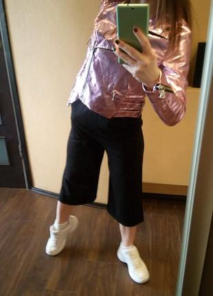 Крутая куртка металлик розовая от missguided9 фото