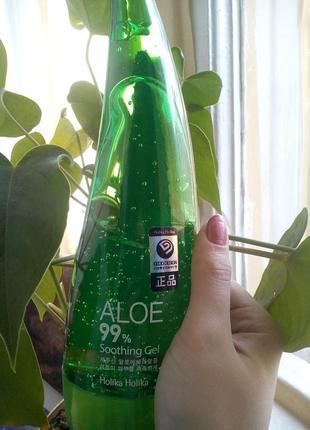 Универсальный гель holika holika 99% aloe soothing gel