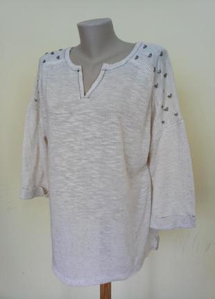 Легкая красивая блузочка лен