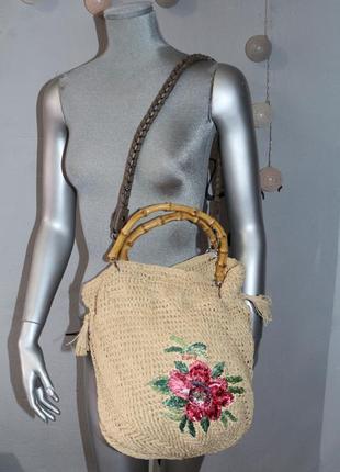 Соломенная плетеная сумка esprit