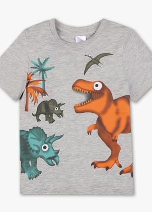 Новая футболка серая с принтом для мальчика, c&a, 20503621 фото