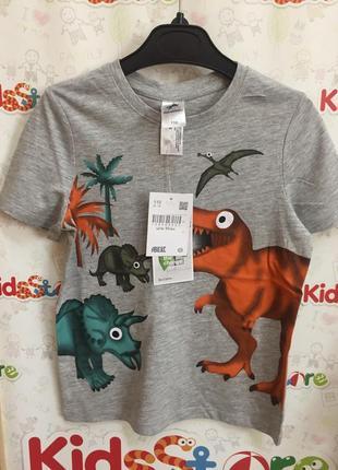 Новая футболка серая с принтом для мальчика, c&a, 20503622 фото