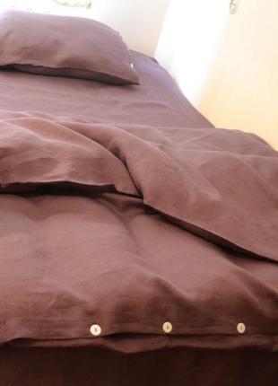 Красивое льняное постельное белье с итальянского льна+екосумка