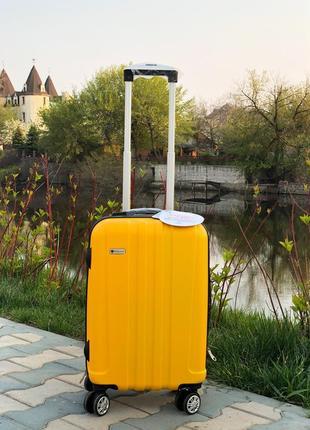 Франция! малый пластиковый чемодан из поликарбоната желтый чемодан