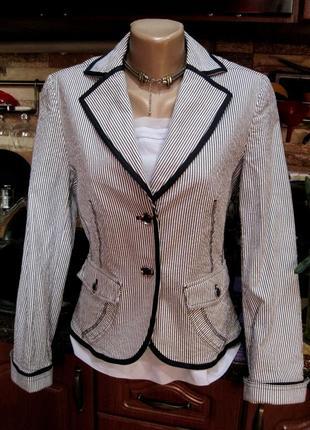Steilmann (германия) гламурный хлопковый пиджак блейзер