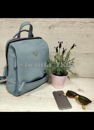 Полуспортивный рюкзак от david jones cm5163t  голубой