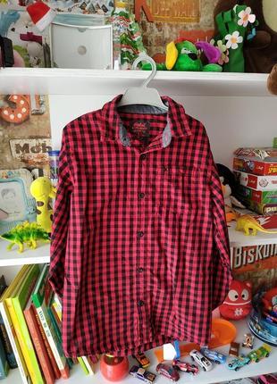 Клетчатая рубашка rebel на мальчика 12-13 лет,158 см