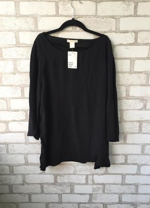 Чёрная кофточка , блуза свободного кроя, оверсайз