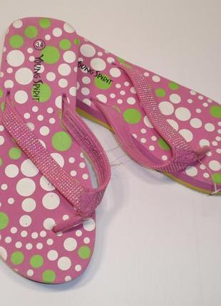 Вьетнамки шлепки шлепанцы для девочки бренд criss cross германия р. 34