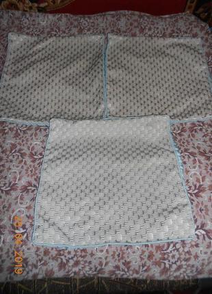 Декоративные наволочки на диванные подушки 45*45 -  3 шт