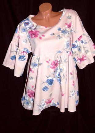 New collection шикарная блуза свободного кроя - xl - l