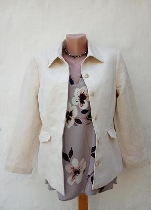 Льняной приталенный жакет,шолк,пиджак,кэжуал,классический.