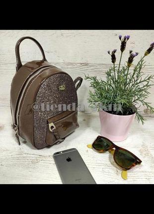 Блестящий рюкзак от david jones cm3983t коричневый
