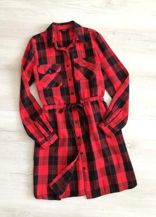 Платье платье-халат платье-рубашка в клетку esmara