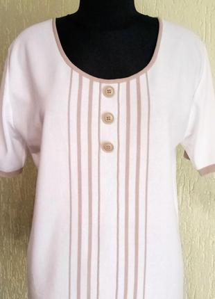 Стильный джемпер из гладкого полотна от daxon, кофта с пуговицами,футболка2 фото