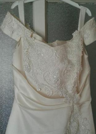 Выпускное платье шампань (айвори)