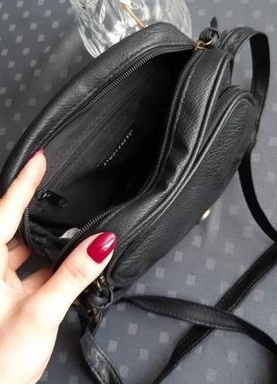 Черная красивая круглая сумка кроссбоди фирмы atmosphere3 фото