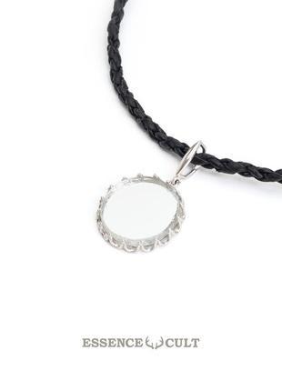 Мистическое зеркало в серебряной оправе, зеркало серебро, ожерелье