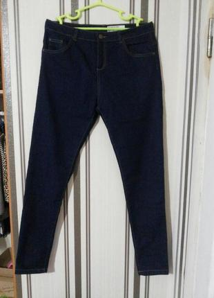 Трендовые скинни джинсы с высокой посадкой англия  темно синий