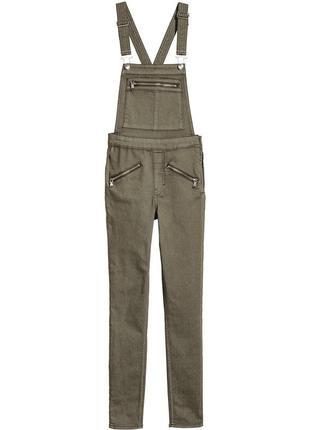 Новый женский джинсовый комбинезон цвета хаки h&m1 фото