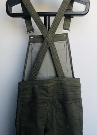Новый женский джинсовый комбинезон цвета хаки h&m2 фото