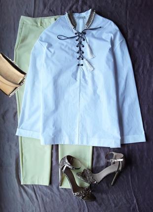 Дизайнерская крутая  блузка от etro.1 фото