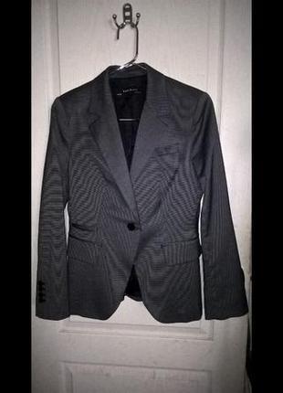 Новый роскошный пиджак zara basic, размер 12 - 14