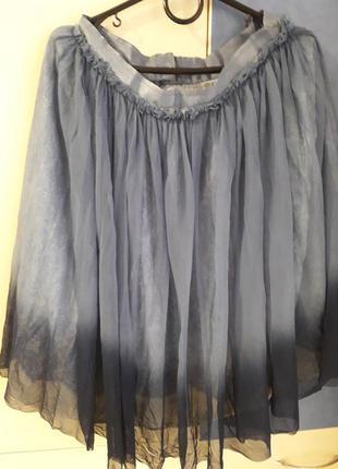 Пышная юбка  миди с фатином