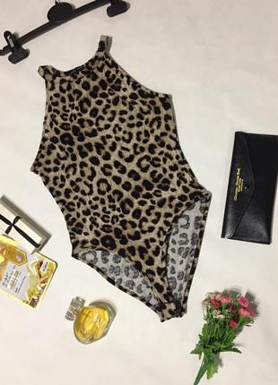 Боди в леопардовый принт от new look