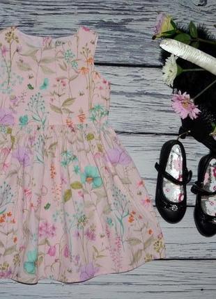 366b838e752 5 - 6 лет 116 см очень нарядное романтичное платье сарафан цветы для  принцессы next некст