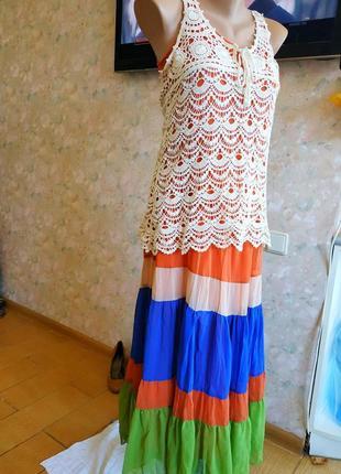Ярусное платье