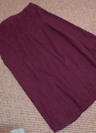 Красивая льняная юбка раз.18