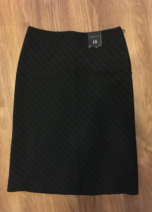 Элегантная классическая трапеция юбка тонкая полоска florence+fred