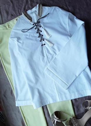 Дизайнерская крутая  блузка от etro.8 фото