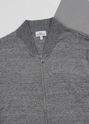 Классный тонкий легкий бомбер свитер в текстурном раскрасе от next