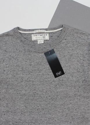 Мягкий тонкий свитерок в черную крапинку от f&f