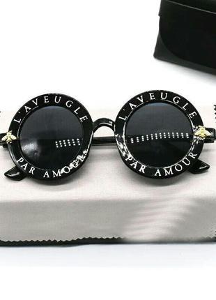 Скидка!новые,стильные,модные,тренд,солнцезащитные очки,круглые,ретро,черные