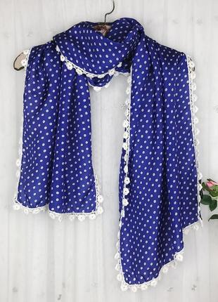 Шелковый шарфик платок с цветами laura ashley