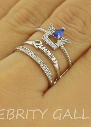 10% скидка - подписчикам! кольцо серебряное 3 в 1 размер 17,5. i 168726 rd b.w 17,5