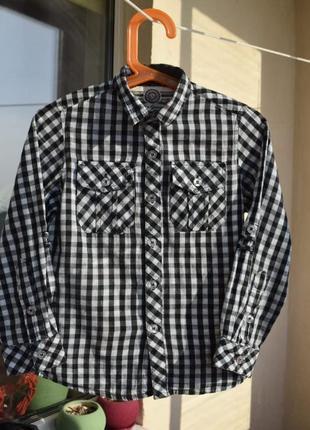 Красивая и лёгкая детская рубашка рукава с подворотом keds boys