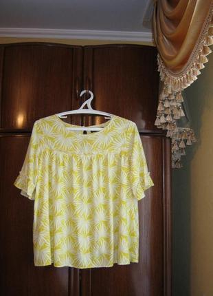 Модная блуза оверсайз marks&spencer, 100% вискоза, размер 14/42