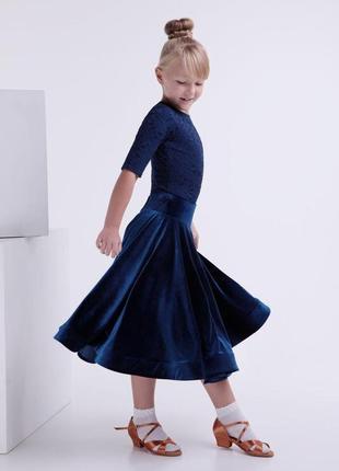 Рейтинговое платье для бальных танцев, бейсик (съёмная юбка)