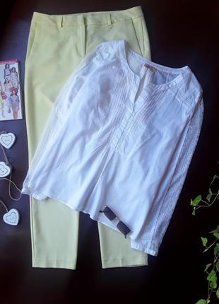 Батистовая рубашка с кружевными вставками по рукавам от ddp